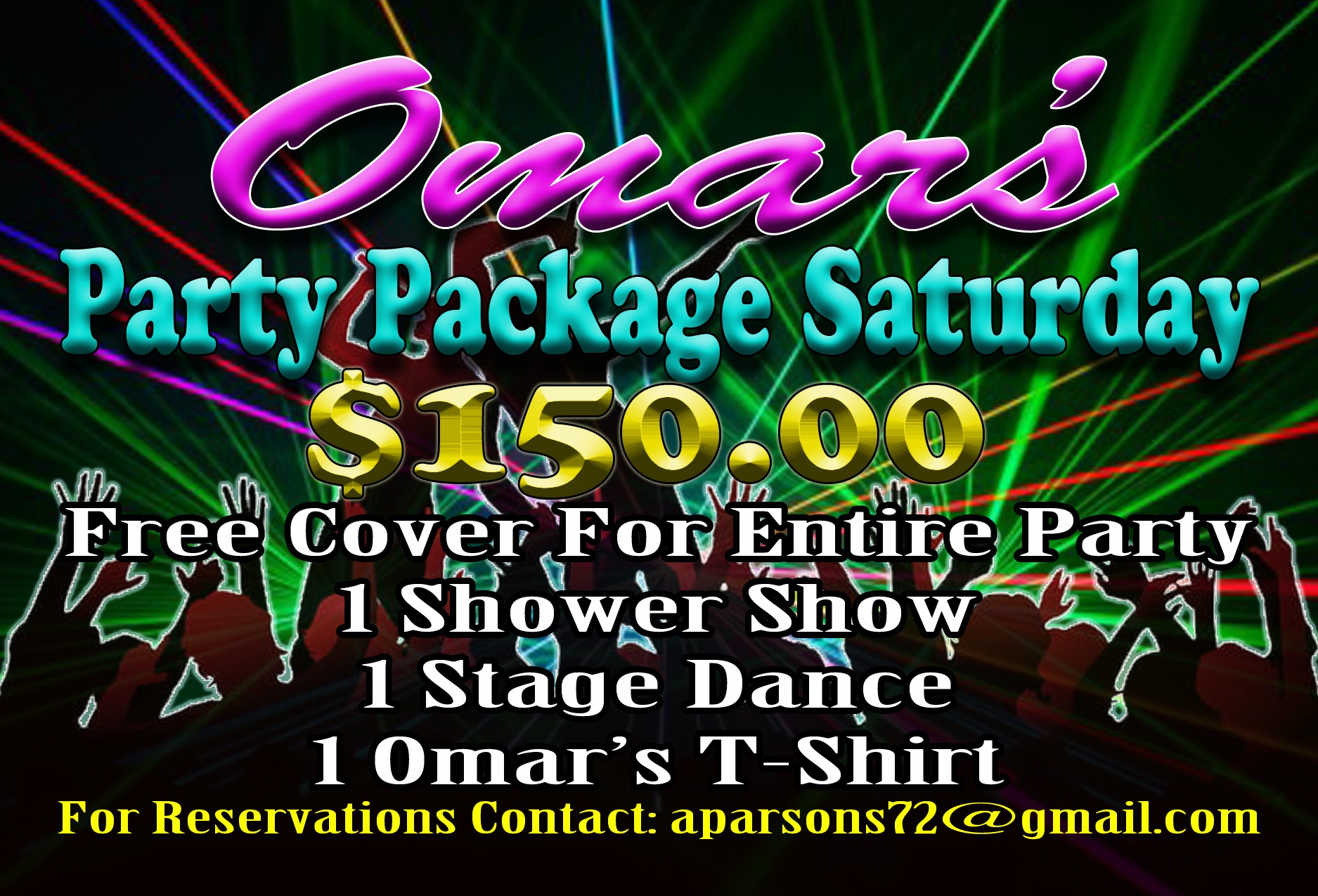2021 Saturday Party Package